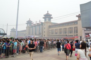 Arriving at the (very busy) Beijing Train Station