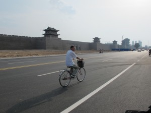 Old city wall in Datong- Lots more of these now that we're moving towards the ancient center of China