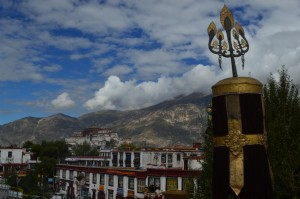 View of the Potala Palace from the Jokhang Temple