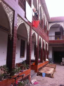 Courtyard of the hostel