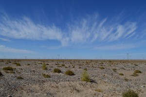 The long desert expanse after Golmud