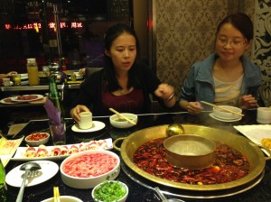 Our Hotpot spread
