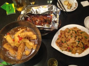 Our local Jiangxi dinner. Yum yum!